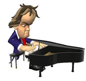 Лет, картинка анимация за роялем