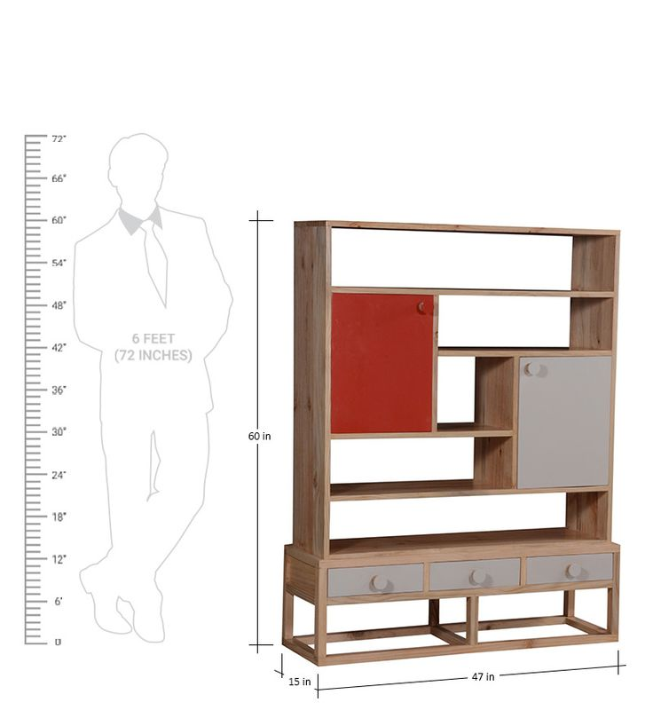 Lima Book Shelf Cum Display Unit In Natural Finish By Woodsworth By  Woodsworth Online   Contemporary