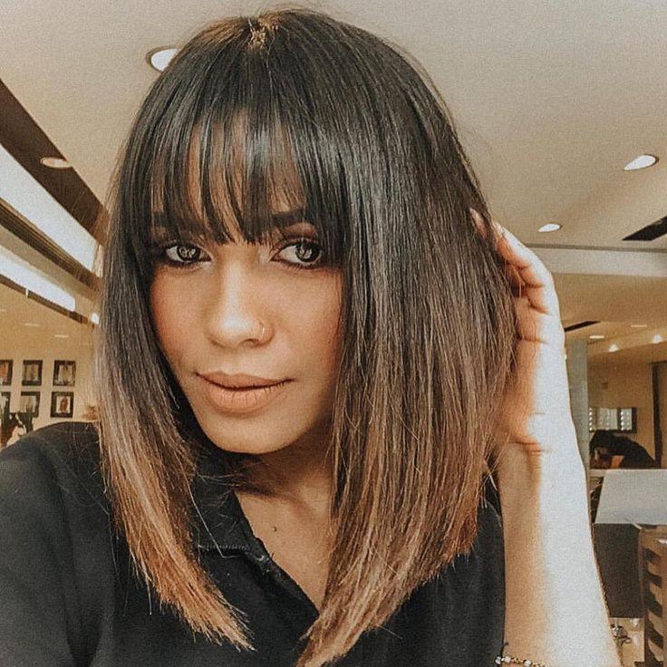 Rodrigo Siqueira On Instagram Long Bob With Bardo Bangs In Ithia Ravane Hairstyles Fringe In 2020 Long Bob Hairstyles Hairstyles With Bangs Bob Hairstyles