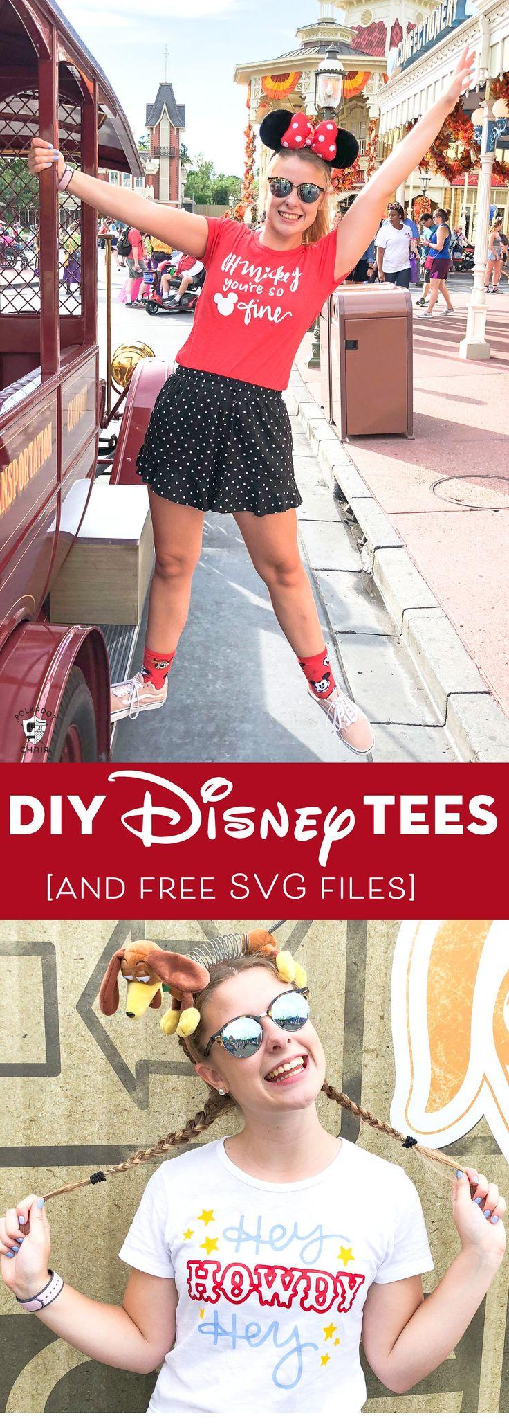 DIY Disney Parks Tees and free Cricut SVG Files Disney