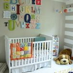 Gray and Yellow Chevron Crib Bedding - traditional - kids - atlanta - Carousel Designs