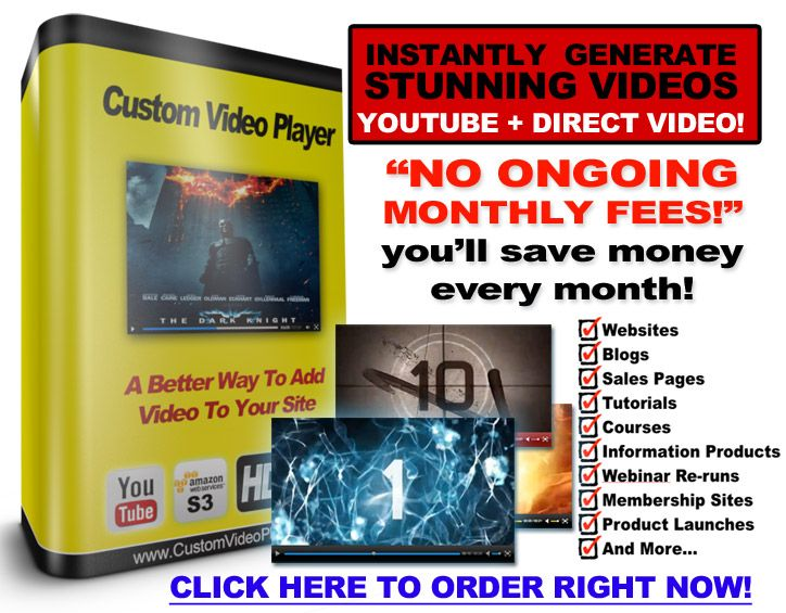 Custom Video Player 2 Review – Best HTML 5 Video Player Plugin that Will Boost Your Video Design and Performance Inside Your Site – JVZOO MARKET REPORT