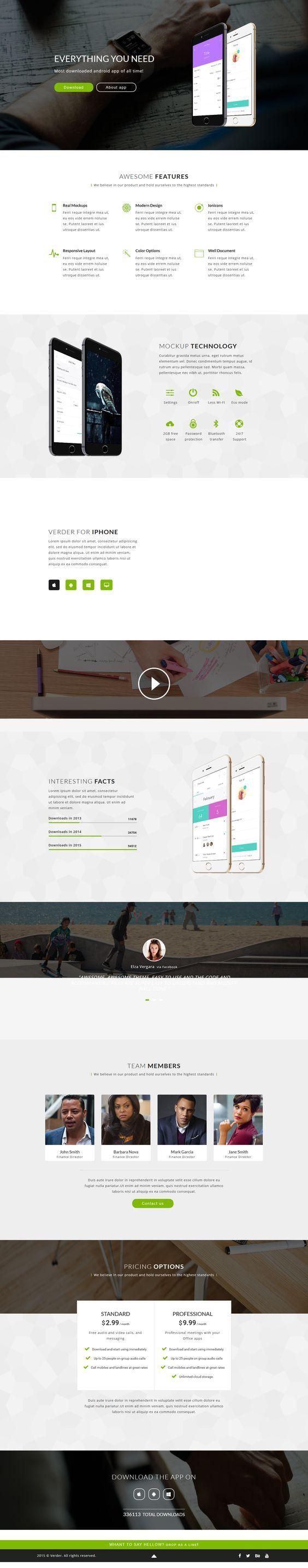 Verder - Responsive App Landing Page. Download: https://themeforest.net/item/verder-responsive-app-landing-page/16804226?ref=skarin
