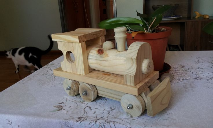 Toy Train . 350mm  long x 200mm high. Still deciding on finish. All made from offcuts. Made two while I was at it...
