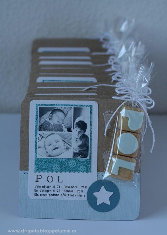 Sorprende a los invitados del bautizo de tu niño con este original recuerdo. #bautizo #regalos #recuerdos