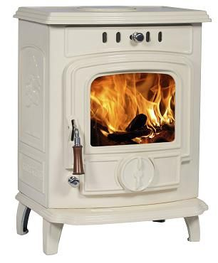 7KW Lilyking 627 Cream Enamel Multi Fuel Boiler Stove | Buy Traditional Boiler Stoves Online | UK Stoves