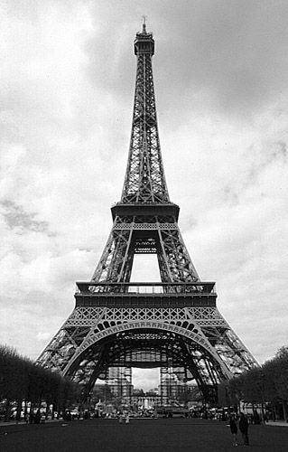 The tower · paris black and whiteeiffel