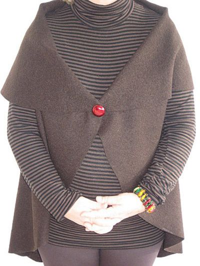Veste en laine bouillie femme