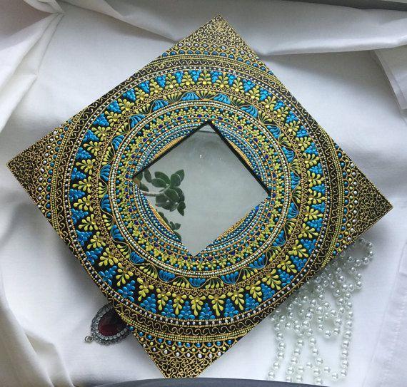 Espejo de pared decorativos Espejo dorado Diseño espejo