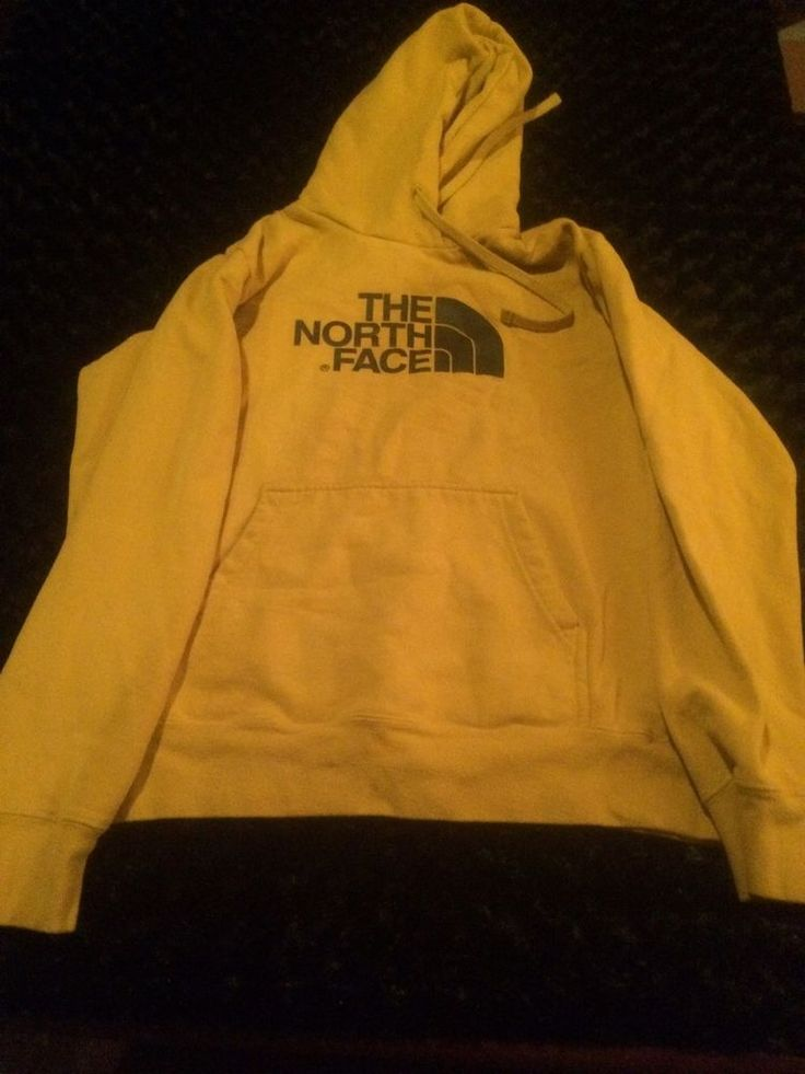 The North Face Woman's Hoodie Hoody Medium Gold Yellow Guc #TheNorthFace #Hoodie