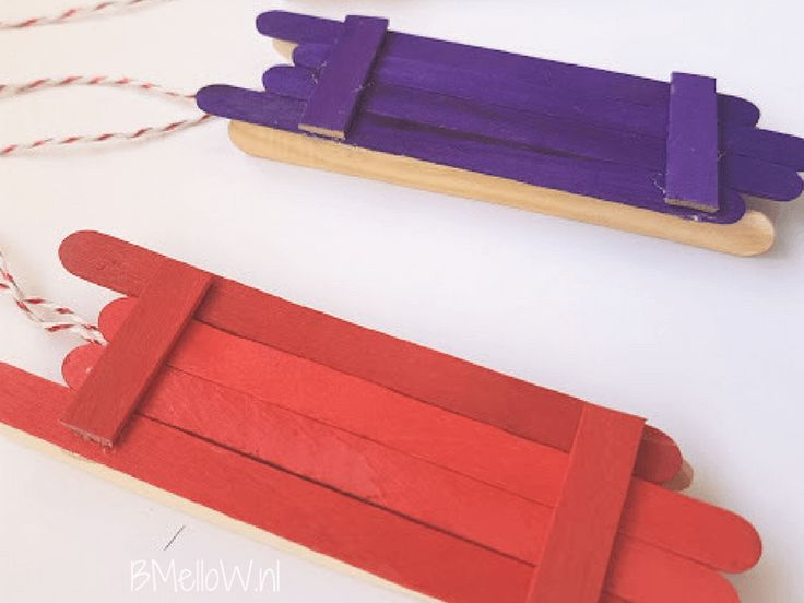 IJsstokjes slee maken. Simpel te maken DIY, perfect kerstcadeau.