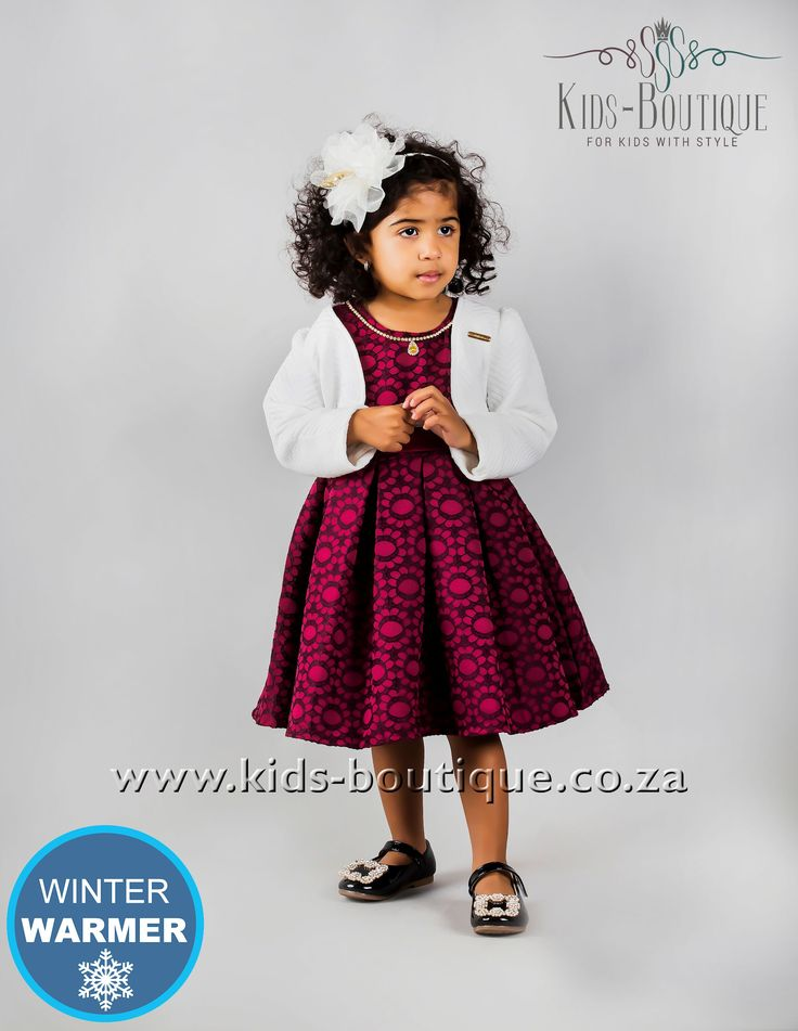 Maroon Patterened Dress With Pendant