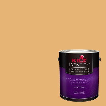 Kilz Identity Interior/Exterior Stainblocking Paint & Primer in One #LD150-02 Pommery Mustard, 1 gallon, Yellow