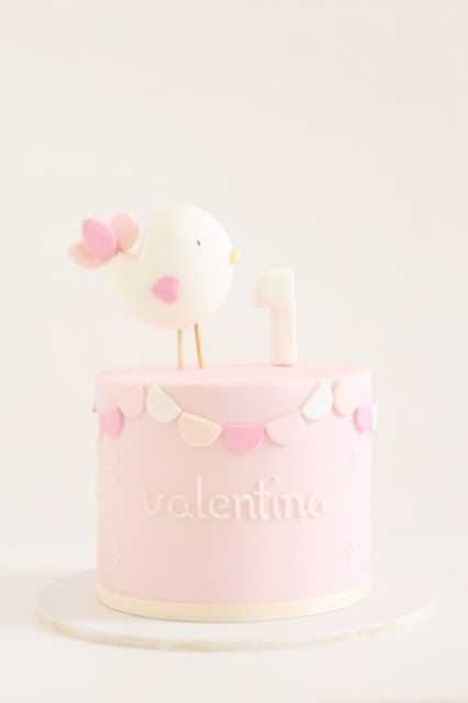 lil birdie 1st birthday cake