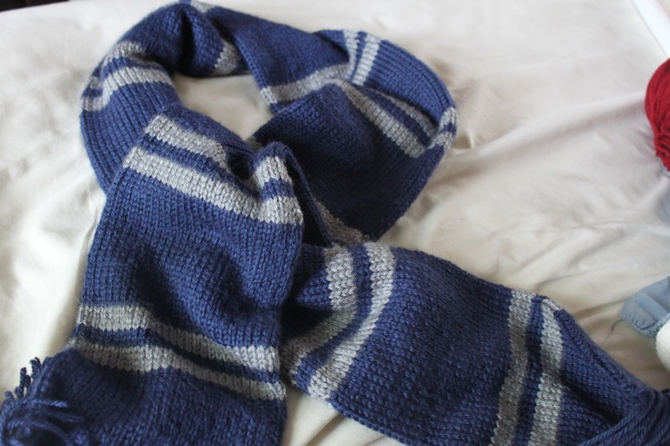 Ravenclaw scarf (that I will soon start knitting!)