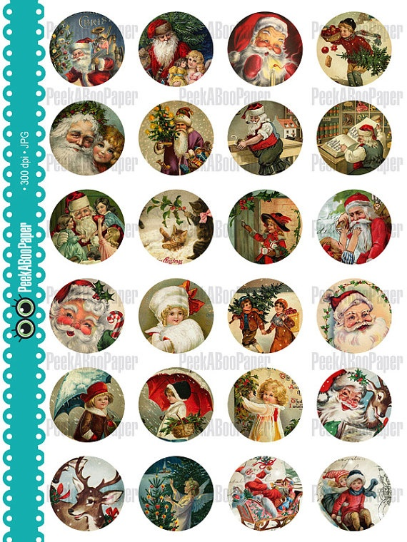 Vintage Christmas Bottle cap images