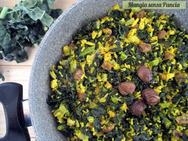 Il riso con cavolo nero, castagne e curcuma è un primo piatto vegano di facile preparazione, gustoso e originale nella combinazione degli ingredienti.