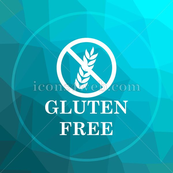 Gluten free low poly button | Square icons | Gluten free