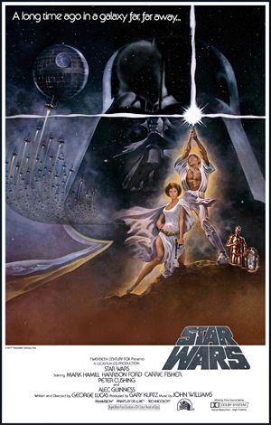 Star Wars film poster... A long time ago in a galaxy far far away