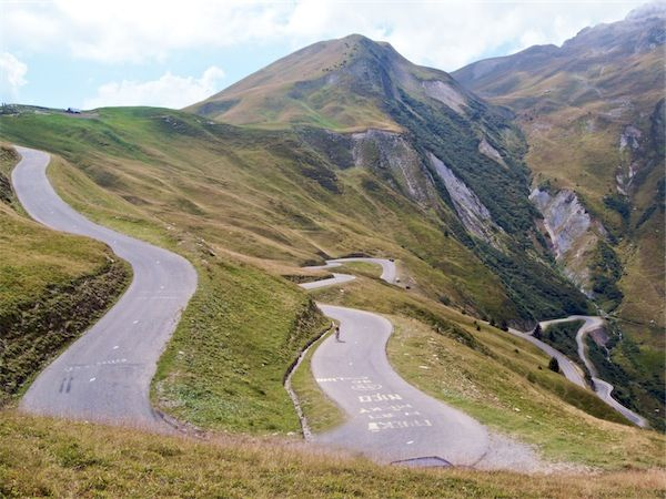 The last three kilometres of Col du Glandon are steep and beautiful Tour de France 2012. French Alps