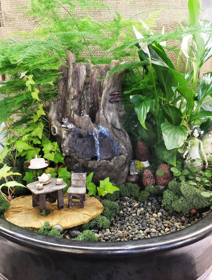10 best fairy gardens images on pinterest fairies garden for Fairy garden waterfall