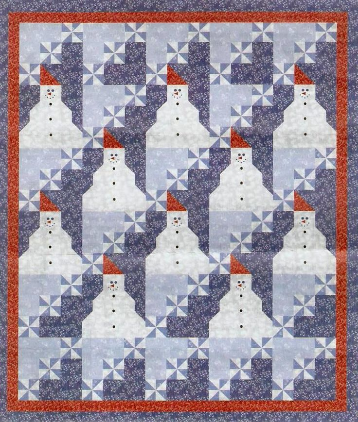 Quilt Inspiration: Free pattern download for Snow Days by A.E. Nathan