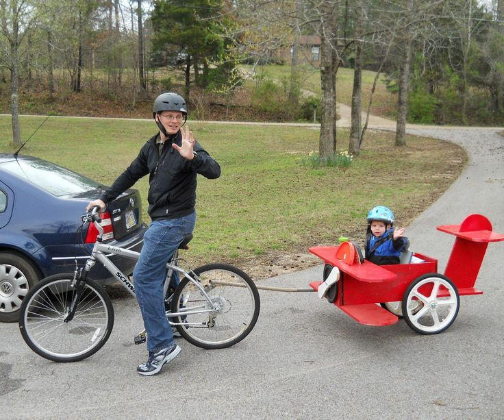 This instructable will detail how to make a small airplane bicycle trailer. I make these for sale, but am glad if other people try their hand at it. I make a plane, train, tank, taxi and tractor version of these. My son loves this particular trailer (it was my first) and I bet your child will love it as well. It is real simple - just knowing how someone else did it may make your day easier. For some reason, when I edit this, it will not let me...