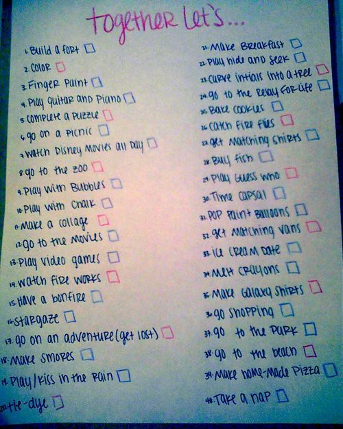 during your first year of marriage, create a bucket list and aim to fulfill all of the things you listed! SO CUTE!