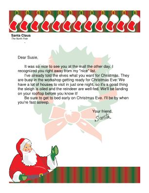 santa letter to child easy free letter from santa magical package
