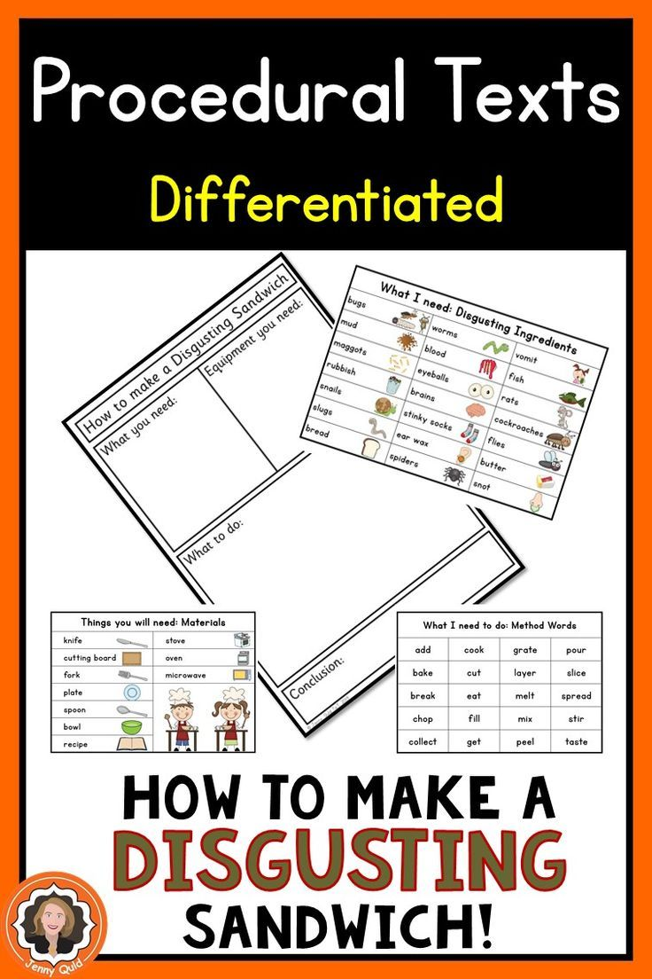Procedural Writing Templates Bundle: 5 How To packets with anchor charts \u0026  word   Procedural writing [ 1104 x 736 Pixel ]