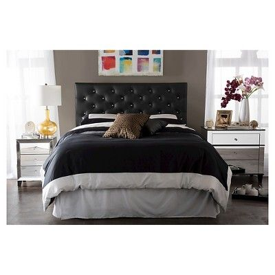Best 25 black tufted headboard ideas on pinterest black for Bellagio button tufted leather brown chaise