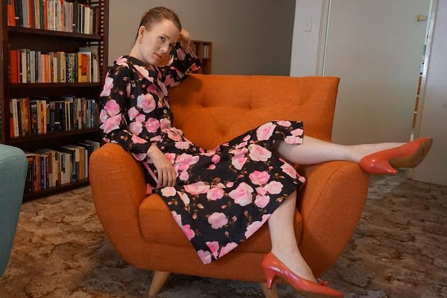 Antipodean Stitcher: The Marchioness Rose  Dress made using a 1950s Australian Home Journal 'house frock' pattern