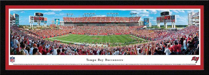 Tampa Bay Buccaneers Panoramic - Raymond James Stadium Picture Framed