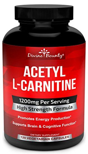 Acetyl L-Carnitine Capsules 1200mg Per Serving - L Carnitine Supplement 120 Vegetarian Capsules  MOST POTENT SOURCE OF L-CARNITINE- If you are looking for an Acetyl L Carnitine supplement that maximizes the benefits, look no further! Divine Bounty offers one of the most effective and powerful Acetyl L-Carnitine pills available. Our extra strength formula contains an incredible 1200mg Acetyl L Carnitine powder per serving of two capsules.  BEST VALUE FOR MONEY - Not only do we offer a h...