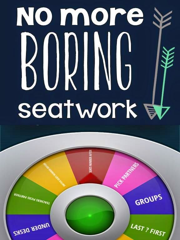 No more BORING seatwork!!
