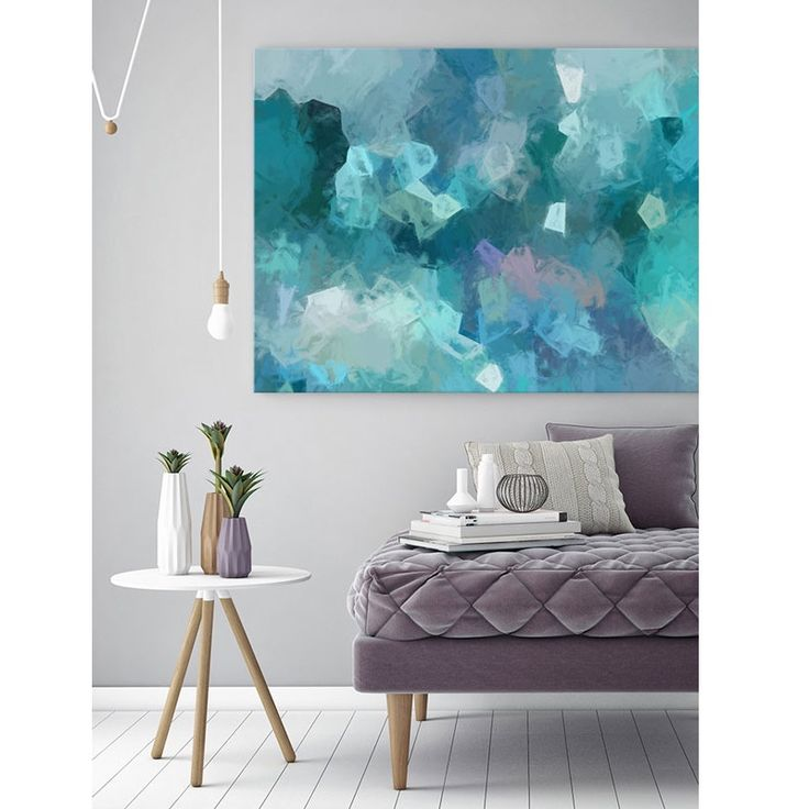 Azure Shine is a stunning colourful canvas print which is part of the Urban Road Illusion collection.