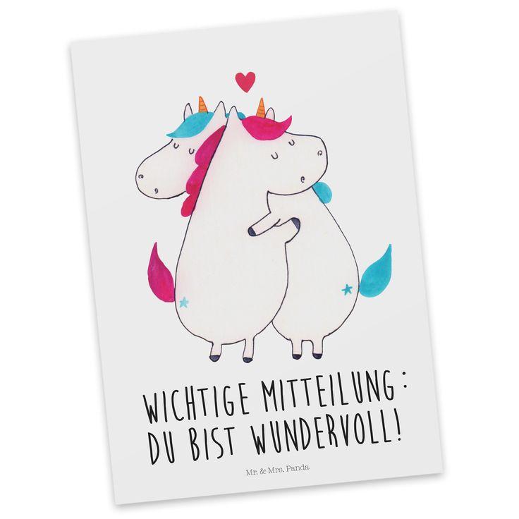 Postkarte Einhorn Mitteilung aus Karton 300 Gramm  weiß - Das Original von Mr. & Mrs. Panda.  Diese wunderschöne Postkarte aus edlem und hochwertigem 300 Gramm Papier wurde matt glänzend bedruckt und wirkt dadurch sehr edel. Natürlich ist sie auch als Geschenkkarte oder Einladungskarte problemlos zu verwenden. Jede unserer Postkarten wird von uns per hand entworfen, gefertigt, verpackt und verschickt.    Über unser Motiv Einhorn Mitteilung  Für diese äußerst dringende Mitteilung muss immer…