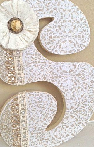 Custom Nursery Letters- Baby Name- Girl Nursery Decor- Wooden Hanging Letters - Nursery Wall Letters-