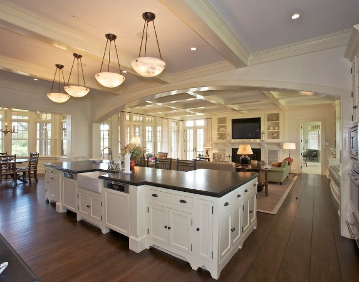 open floor plan kitchen and living room. kitchen nook hearth room  open spaces love the openness and cabinet color Best 25 Open floor plans ideas on Pinterest house