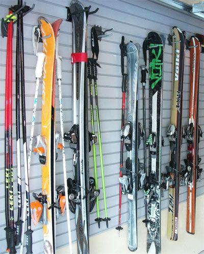 Cool Way To Put Away Winter Sports So They Donu0027t Get Damaged.. Winter SportsGarage  StorageStorage Ideas
