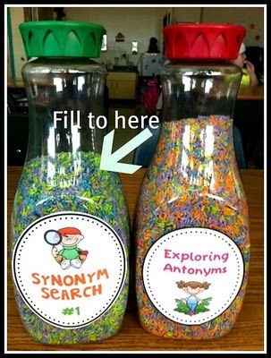 These shakers make incredible learning center activities!
