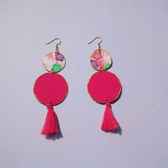 collezione Terre D'Oriente-cherry  orecchini in carta