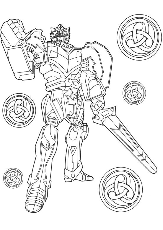 Power rangers mega zord free coloring pages for Power rangers megazord coloring pages