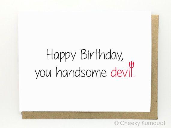 Birthday Card for Husband Birthday Card for by CheekyKumquat