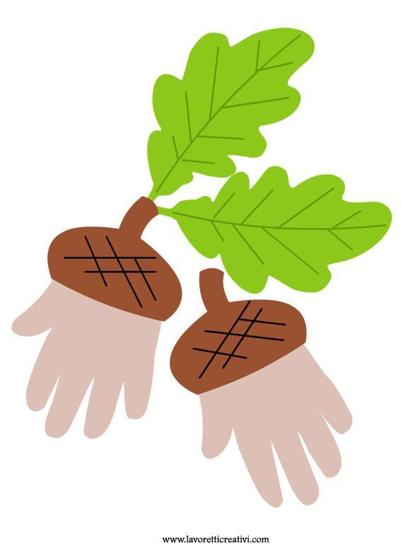 lavoretti-infanzia-autunno-ghiande-impronta-mani
