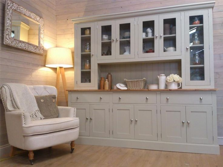 New Huge 7ft Solid Pine Welsh Dresser Kitchen Unit Shabby Chic Painted Furniture in Home, Furniture & DIY, Furniture, Cabinets & Cupboards | eBay!