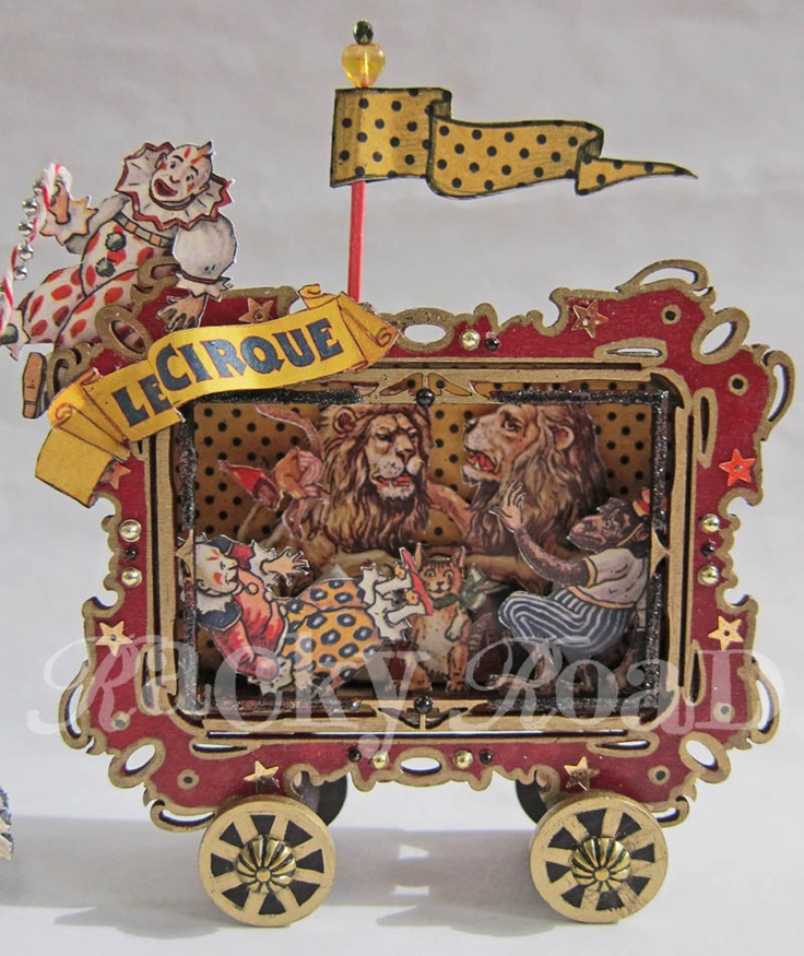 Circus Collage  http://kbatsel.blogspot.com/2011/06/circus-wagon-altered-tin.html