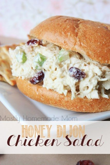 Honey Dijon Chicken Salad - A Favorite! I made this on 9/14/16 and it is yummy. I didn't use a full cup of mayo and only used a 1/4 cup of Craisins which was plenty for us. I'll be making this again for sure.