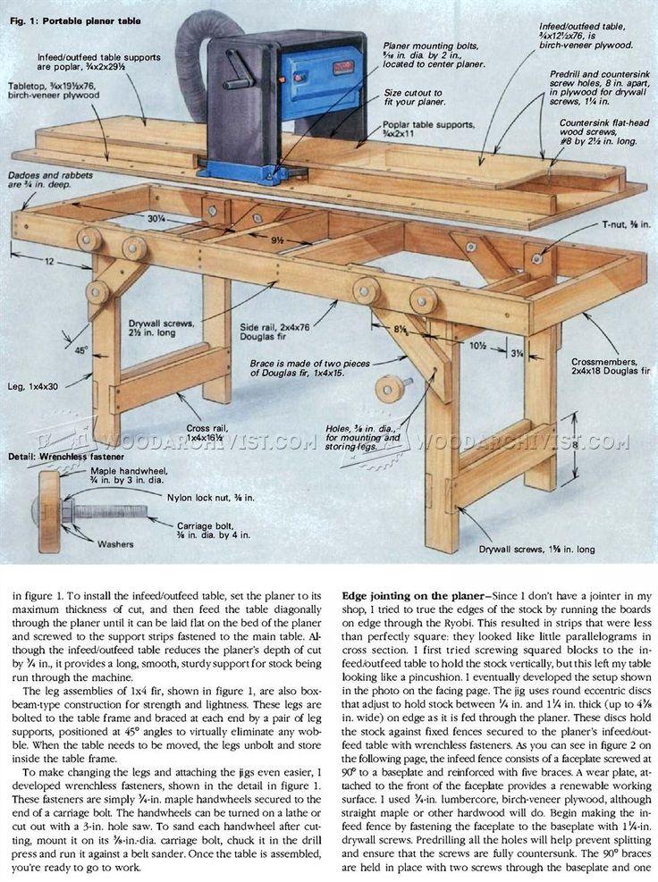 #2100 Portable Planer Table Plans - Planer