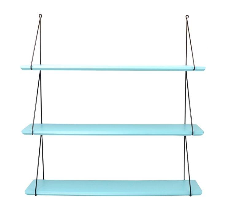 Wandrek Aqua blauw (3 planken) (babou 3 aqua blue)